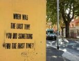 When was the last time you did something for the first time? [12946]
